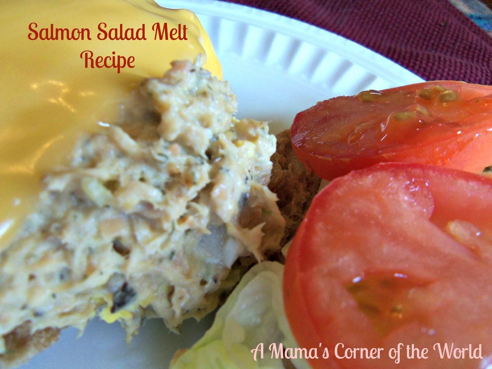 Easy Lunch Recipe: Salmon Salad Melt Recipe Idea ~ A Mama's Corner of ...