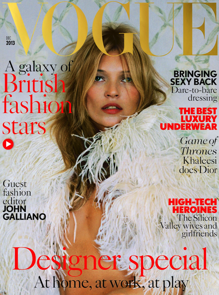 Uk Vogue December 2013 kate moss