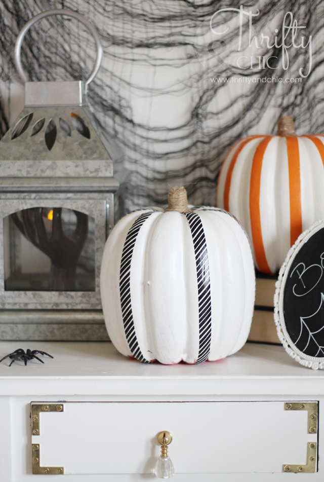 Washi Tape Pumpkins and DIY Halloween Decor