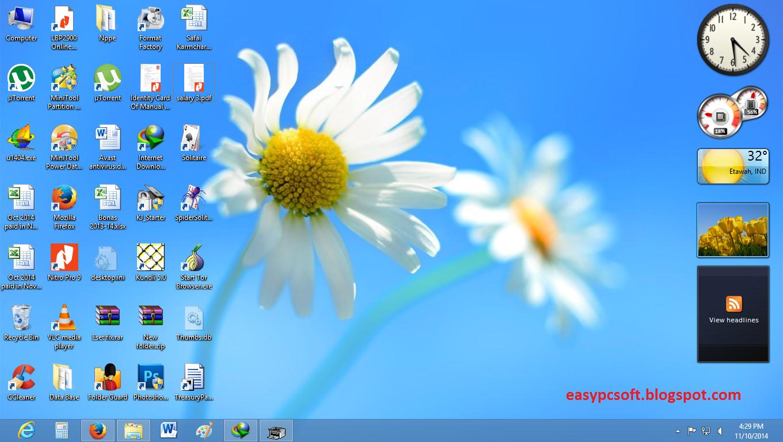 Windows 7 sidebar for windows 8