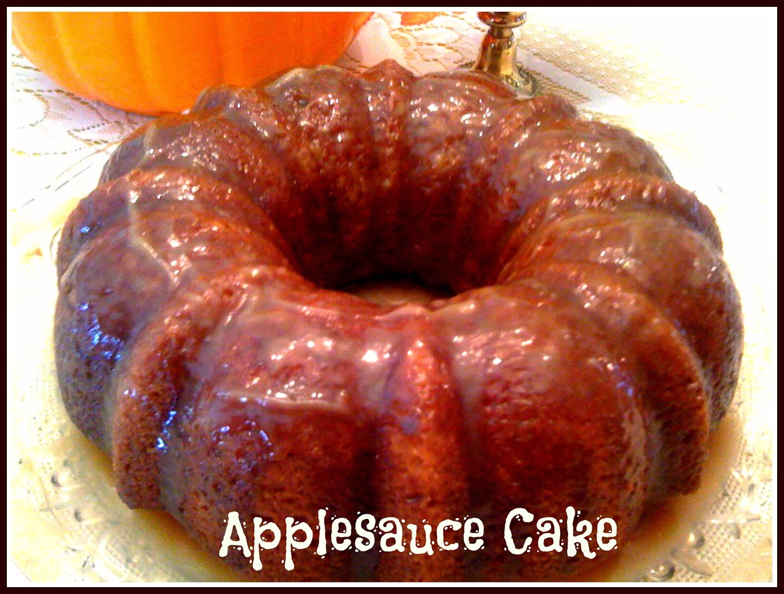 Applesauce Cake with Buttermilk Glaze!