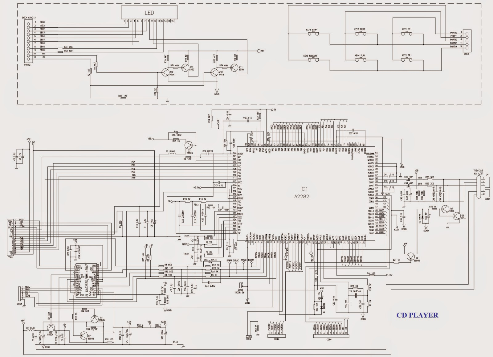 cd player schematic  cd  free engine image for user manual