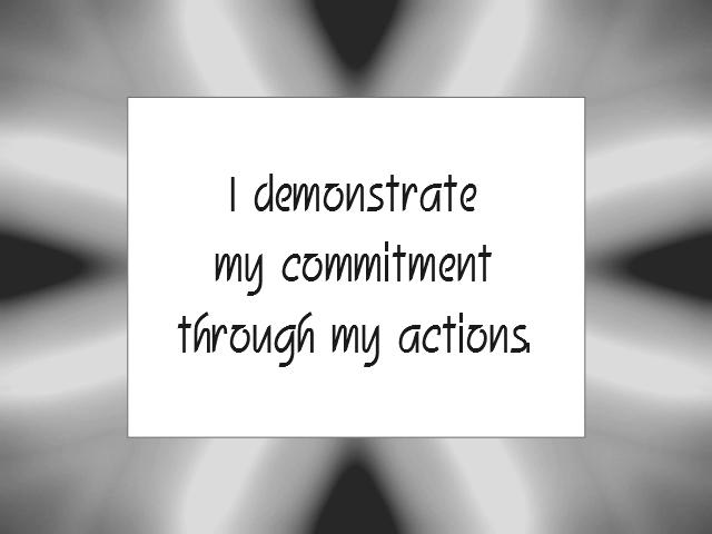 ACTION affirmation