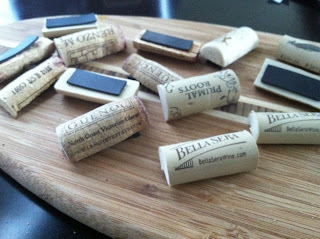 wine cork project - magnets