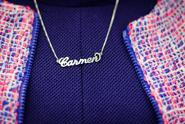 satc style name necklace namenskette carmen