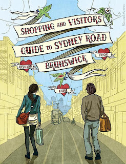 commercial illustration - Sydney Road Shopping Guide cover
