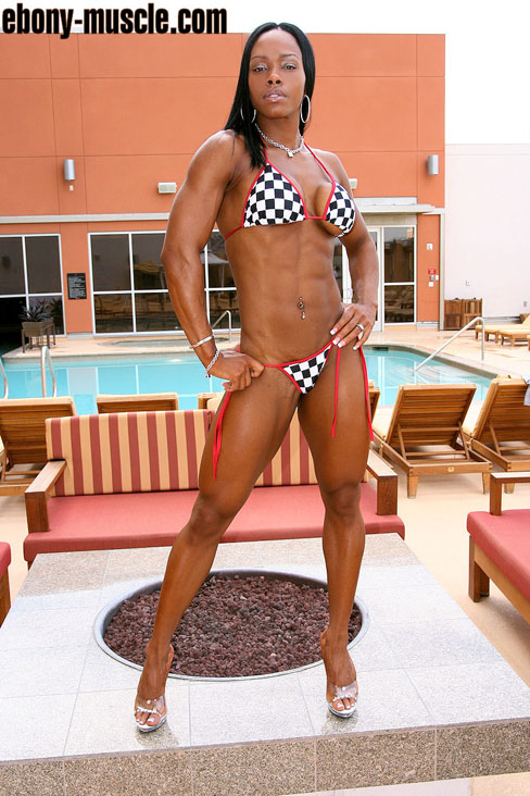 Desunka Dawson Fit Female Muscle Ebony Hottie