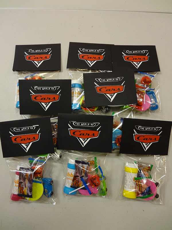 CARS Cartridge Goodie Bags And Party Centerpiece