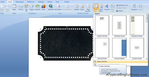 Drawing Lines Between Text Boxes : A typical english home how to make labels with microsoft word