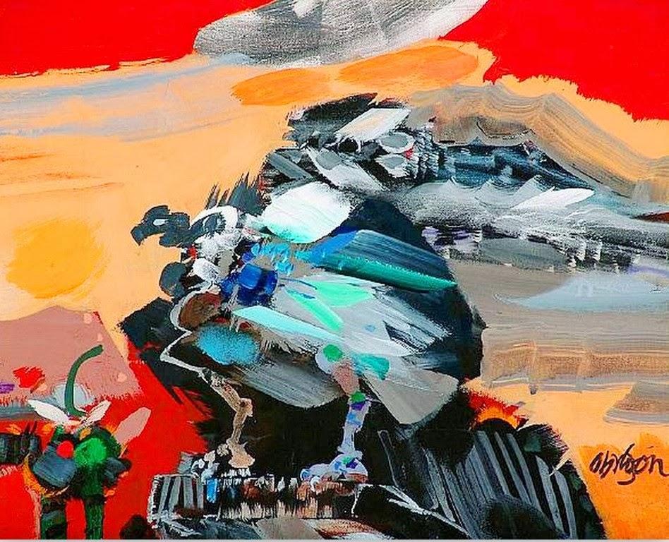 Cuadros modernos pinturas y dibujos pintura con esp tula - Cuadros pintados con spray ...