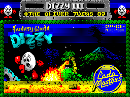 Fantasy World Dizzy ZX Spectrum loading screen