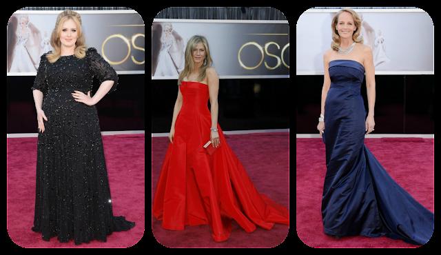 Oscars Well Dressed: Adele, Jennifer Aniston and Helen Hunt