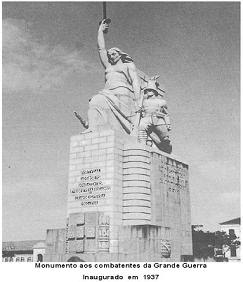 MONUMENTO AOS COMBATENTES DA GRANDE GUERRA, INAUGURADO NO ANO 1937,  NO LARGO DO KINAXIXI - LUANDA.