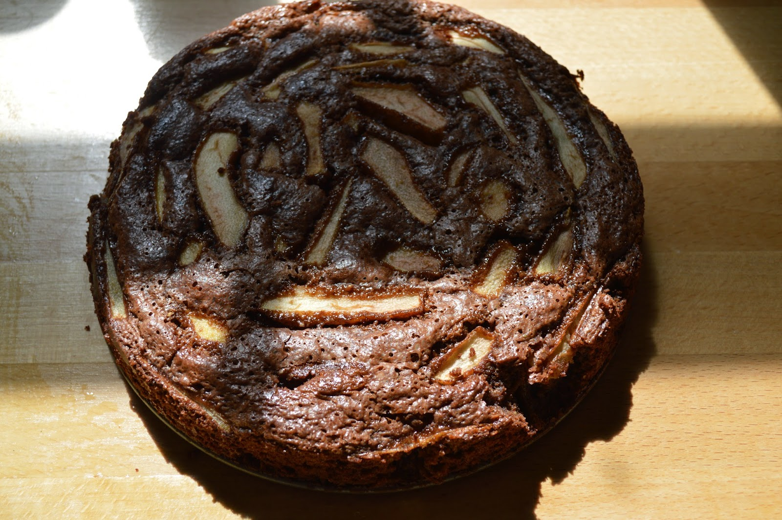gluten free, pudding, desert, recipe, pear, chocolate, pistachio nuts, home made, easy, baking,