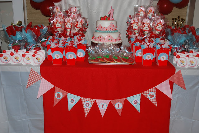 Strawberry Birthday Party Theme photo