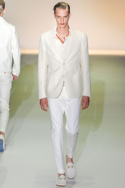 Male model Benoni Loos S/S 2013 Gucci