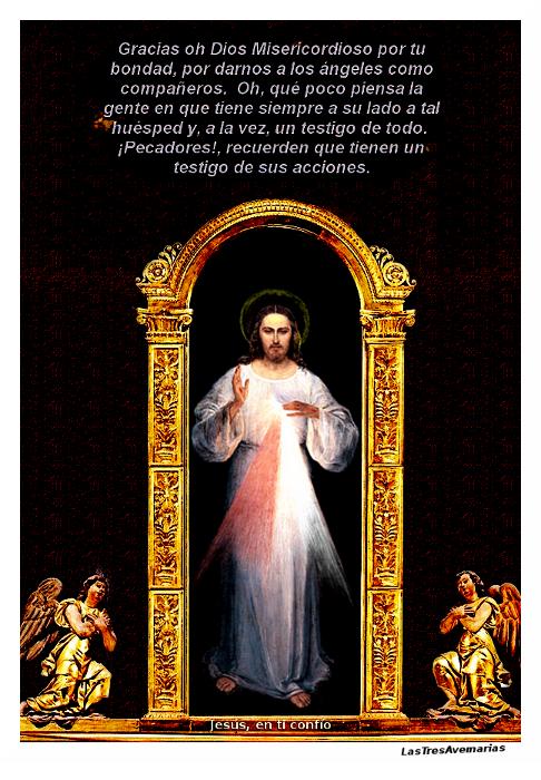 foto con mensaje de jesus misericordioso