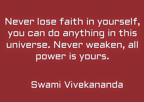 Never lose faith in yourself, you can do anything in this universe. Never weaken, all power is yours.