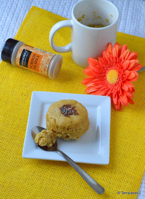 2 Minute Pumpkin Spice Mug Cake
