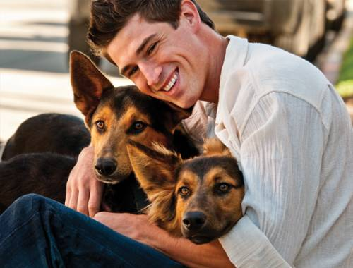 hot men with pets