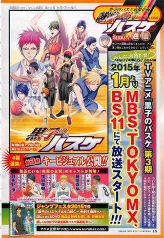 Kuroko Basketball Season 3  2015