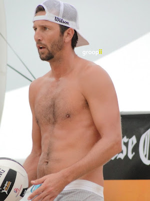 Sean Rosenthal Shirtless at Hermosa Beach Open in 2011