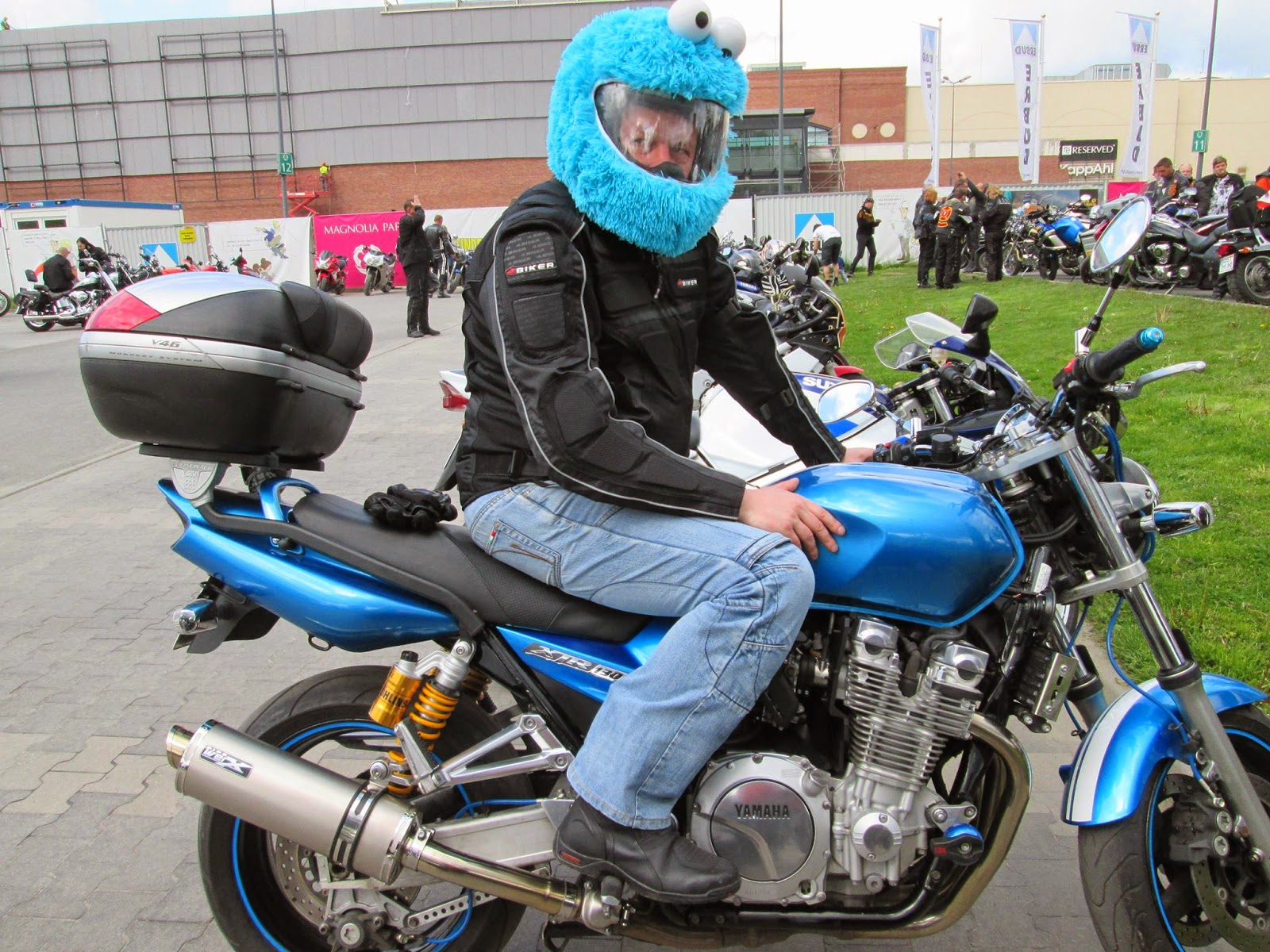 Cookie Monster Helmet Cover