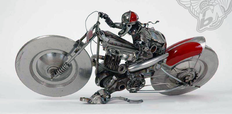 speedway slider motorcycle sculpture | james corbett