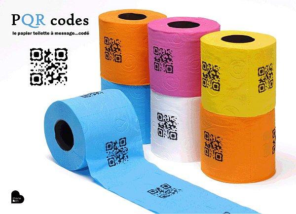 creer flashcode ou qr code pqr codes le papier toilette message cod. Black Bedroom Furniture Sets. Home Design Ideas