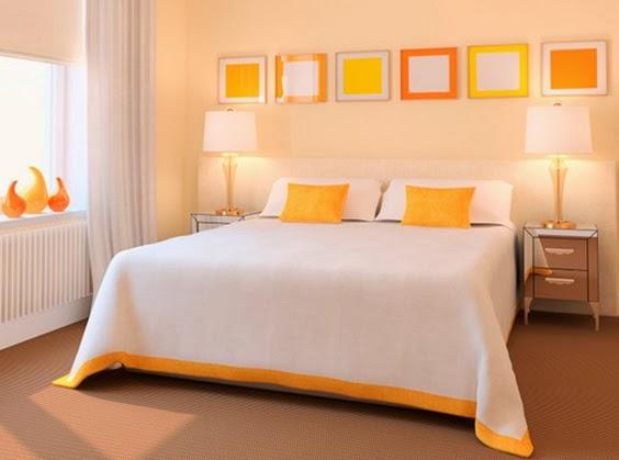 para quienes an no desean arriesgar mucho para las paredes del dormitorio a continuacin mostramos algunos diseos de suaves naranjas que ayudan a generar