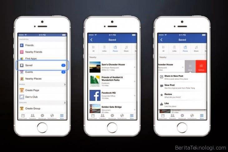 Facebook Perkenalkan Fitur Baru Bernama Save sebagai Fasilitas Bookmarking di Jejaring Sosial