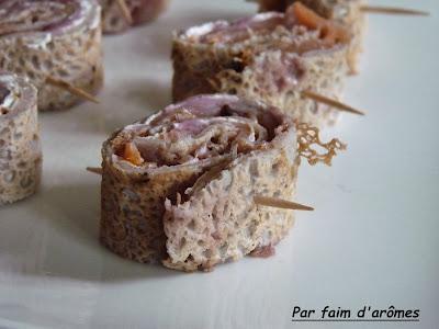 Crêpes apéritives au saumon