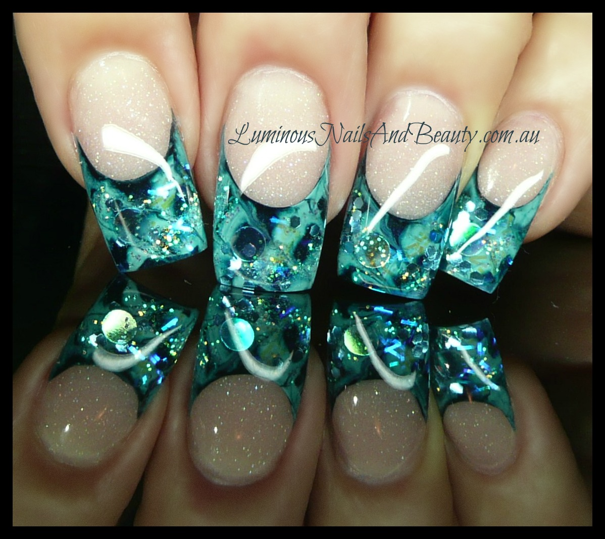 The Appealing Glittery gel nail designs Picture