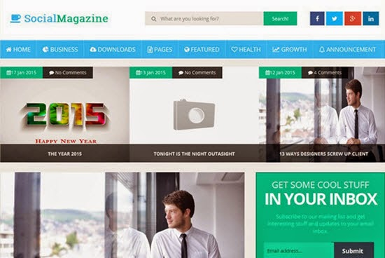 Social Mag Responsive Blogger Template