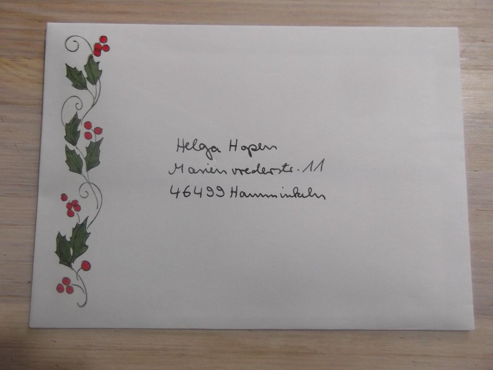 sconebeker stempelscheune bestempelter weihnachtsbrief. Black Bedroom Furniture Sets. Home Design Ideas