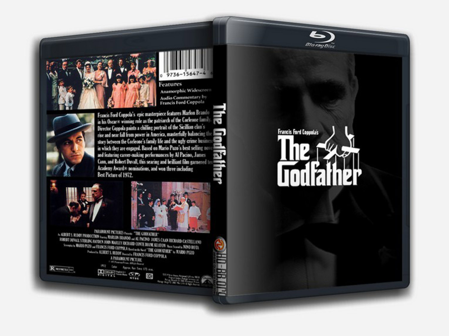 The Godfather Blu-ray DVD Case Box