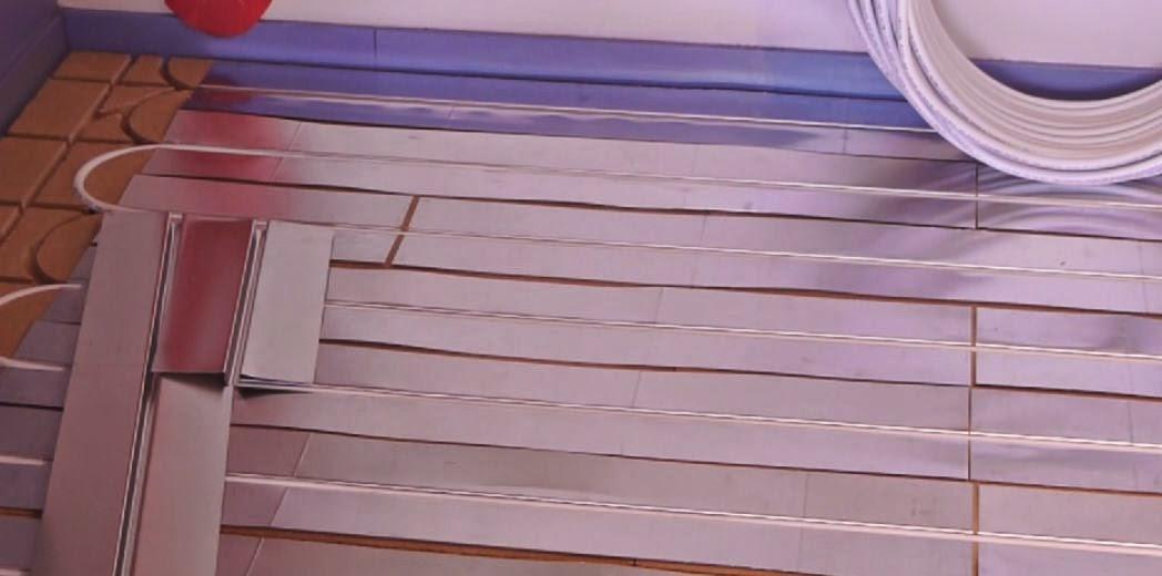3eme etape de pose du plancher chauffant sec et mince Caleosol Eco+