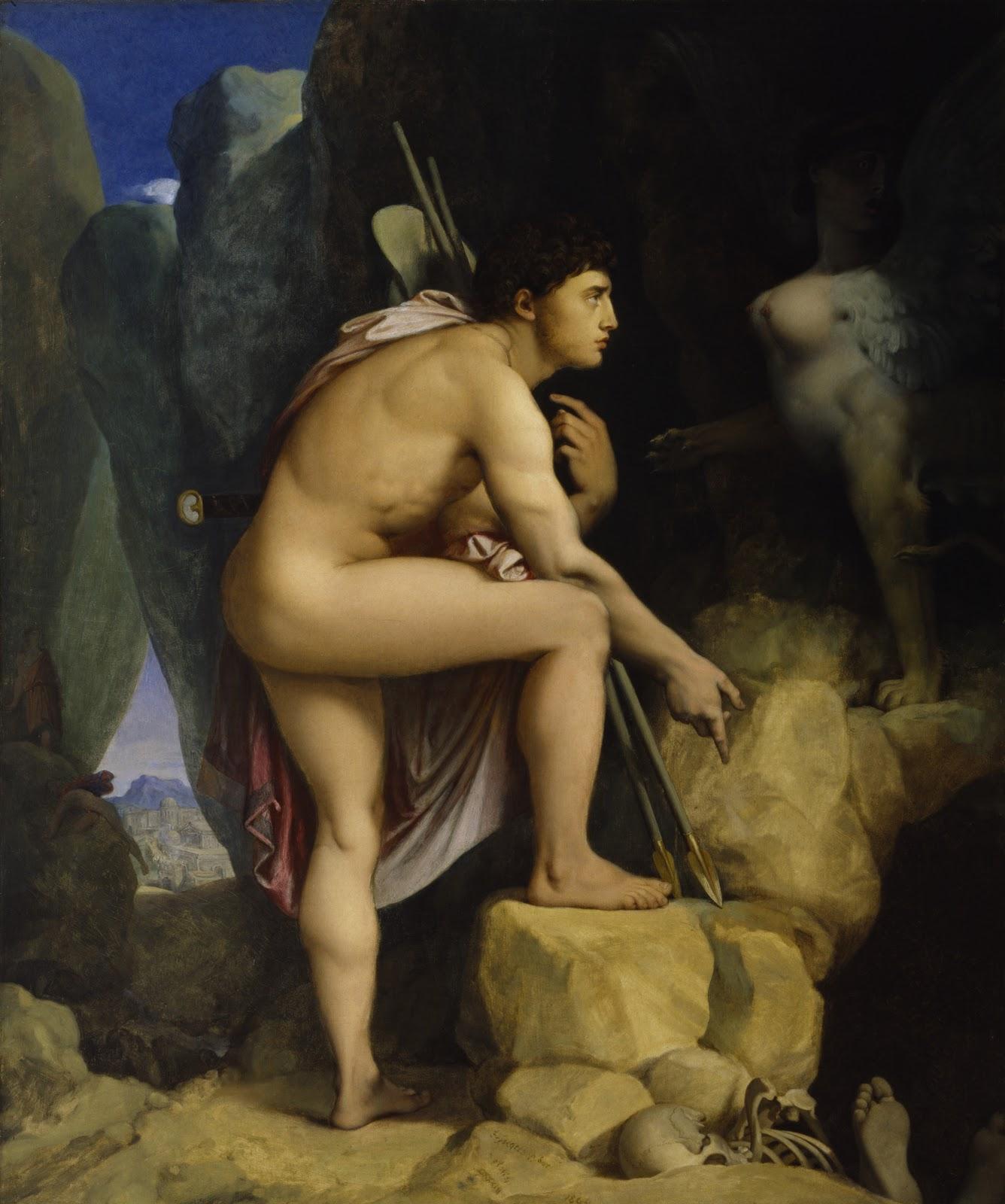 sphinx oedipus ingres