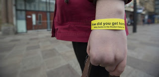 Drunk student awareness wristbands