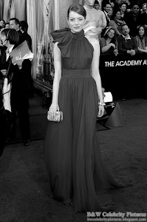 Emma Stone over red carpet at 2012 Academy Awards - Oscar arrival