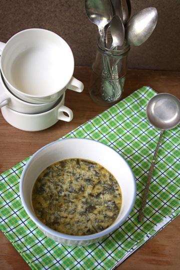 Суп со щавелем или зеленый борщ