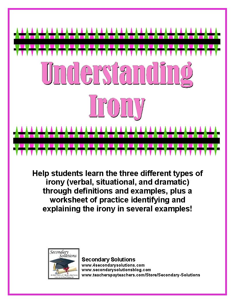 what is irony in writing Irony is a multi-faceted literary device that a writer uses to point out the  discrepancy between reality and how things appear or what was expected when  a writer.