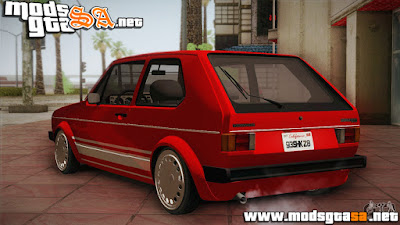 SA - Vw Golf MK1 Red Vintage
