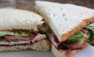TURKEY, BACON AND LETTUCE SANDWICH