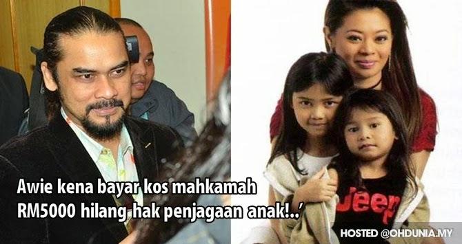 Awie kena bayar kos mahkamah RM5K hilang hak penjagaan kekal anak!..