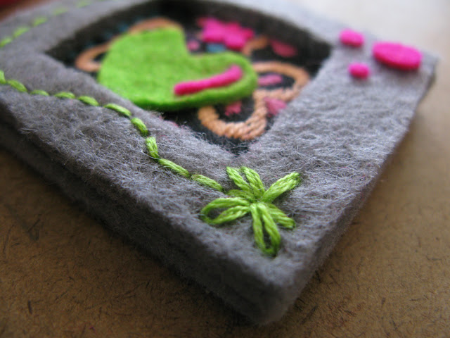 mini felt and fabric picture frames