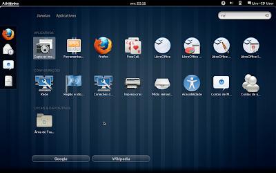 Captura de tela do GNUME Shell #2