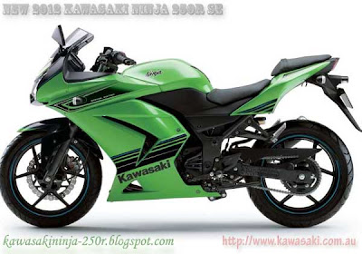left side view of 2012 Kawasaki ninja 250r special edition