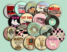 Fabulous Fifties Pin Back Buttons