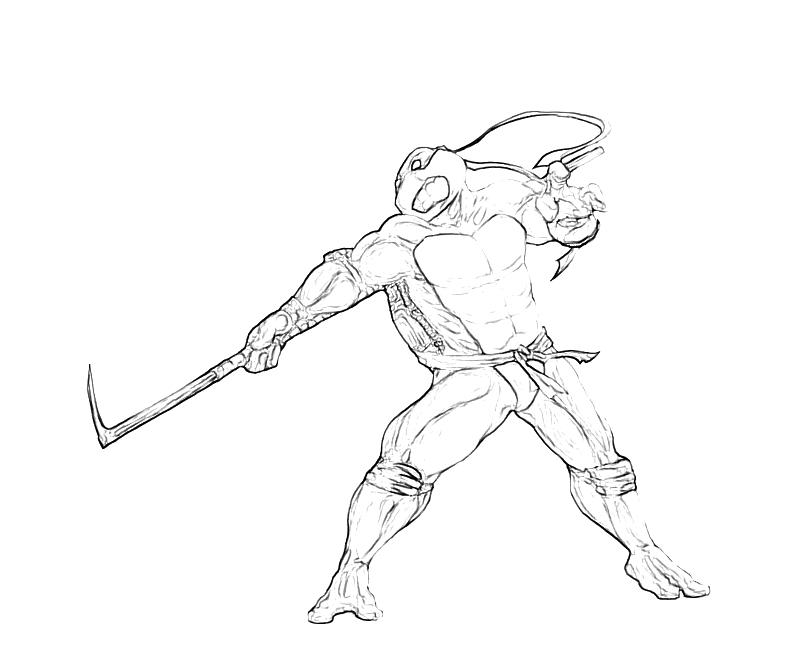 Donatello Ninja Turtle Coloring Pages Free coloring pages of...